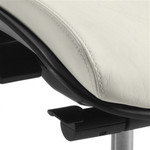 Global Roma Armless Leather Ergonomic Office Chair 1902L