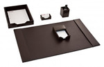 Dacasso Dark Brown Bonded Leather 5 Piece Stationary Set D3602
