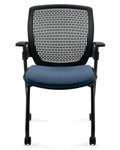 Global Roma Series Nesting Chair 1898 with Honeycomb Back