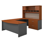 Bush Series C Right Handed Bow Front U Shaped Desk