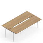 """Global SideBar 60"""" x 48"""" Open Concept Work Table with Wire Management Trough"""