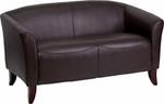 Flash Furniture HERCULES Imperial Series Brown Leather Love Seat