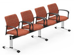 Global Sidero 4 Person Guest Bench SID502 (Cool Color Options!)