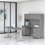 platinum gray studio c ergonomic desk set
