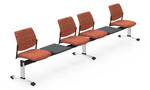 Global Sidero Modular Beam Chair with Accent Tables SID505