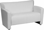 Flash Furniture HERCULES Majesty Series White Leather Love Seat