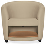 Global Sirena Series Leather Lounge Chair with Bottom Shelf 3372LM