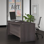 "Bush Studio C Series 72"" x 36"" Bow Front Desk"
