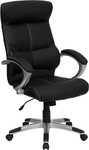 FL-H-9637L-1C-HIGH-GG-Flash Furniture High Back Black Leather Executive Office Chair