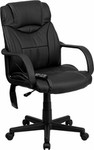 Flash Furniture High Back Black Leather Massaging Executive Chair