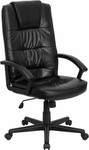 Flash Furniture High Back Black Leather Office Chair