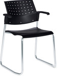 Global Sonic Sled Base Guest Chair 6523