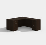 cherryman amber l-desk am-314n in black cherry