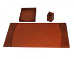 Dacasso Protacini Cognac Brown Leather Desk Set D6137