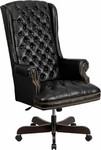 Flash Furniture High Back Traditional Tufted Black Leather Executive Chair