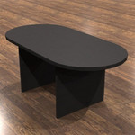 cherryman amber series conference table with black cherry finish