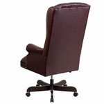 Flash Furniture High Back Traditional Tufted Burgundy Leather Office Chair
