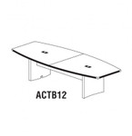 ACTB12LGS Gray Steel Finished Aberdeen 12' Conference Table by Mayline
