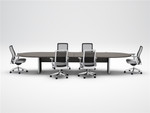 cherryman amber racetrack conference table a723
