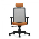Global Spritz Mesh Back Tilter Chair with Adjustable Headrest 6760-4