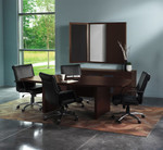 ACTB6 Aberdeen 6 ft Boat Shaped Conference Table by Mayline (Power Modules Available!)
