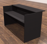 amber black cherry reception desk shell