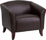 Flash Furniture Imperial Brown Leather Lounge Chair 111-1-BN-GG