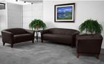 Flash Furniture Imperial Brown Leather Reception Furniture Set