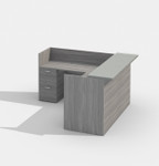 amber valley grey l-shaped reception desk am-400n