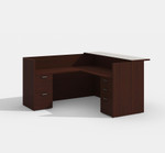 amber mahogany reception desk