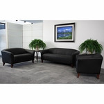 Flash Furniture Imperial Series Black Leather Lounge Chair