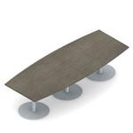 Global Swap 10' Boat Shaped Boardroom Table SWP521