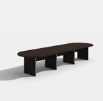 amber black cherry expandable conference table