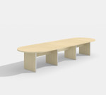 amber maple expandable conference table