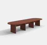 amber cherry expandable conference table