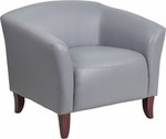 Flash Furniture Imperial Series Gray Leather Reception Chair 111-1-GY-GG