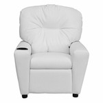 Flash Furniture Kids White Vinyl Recliner