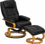 Flash Furniture Leather and Wood Recliner