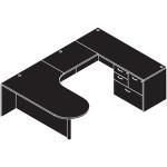 cherryman u shaped desk line drawing