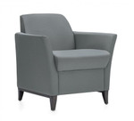 Global Total Office 5471 Camino Series Lounge Chair with Wood Legs