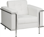 Flash Furniture Lesley 3 Piece White Reception Seating Set