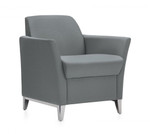 Global Total Office 5481 Camino Lounge Chair with Polished Legs
