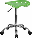Flash Furniture Lime Green Stool with Chrome Base and Tractor Style Seat