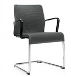 Global Total Office 5945 Lite Series Sled Base Mesh Reception Chair (24 Color Options Available!)