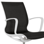 Global Total Office 8457 Solar Mesh Chair with Alabaster Frame (4 Colors Available!)