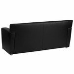 Flash Furniture Majesty Black Leather Reception Sofa