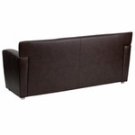 Flash Furniture Majesty Brown Leather Reception Sofa