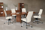 Global Total Office Adaptabilities Series 6' Racetrack Boardroom Table