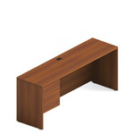 Global Total Office Avant Honey Finished Adaptabilities Credenza with Pedestal