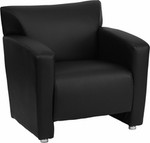 Flash Furniture Majesty Series 222-1-BK-GG Black Leather Lounge Chair